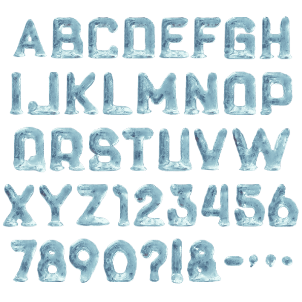 Cool alphabet fonts png. Buy ice baby font