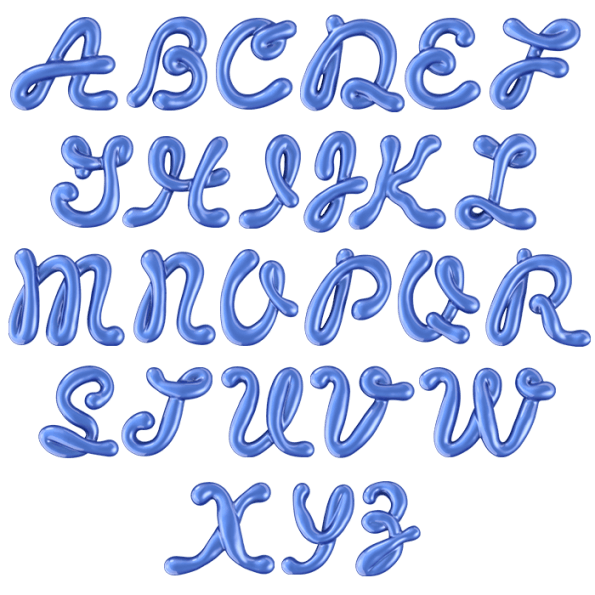 Cool alphabet fonts png. Buy glossy blue font