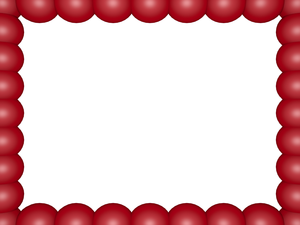 Transparent pearls border. Free cool page borders