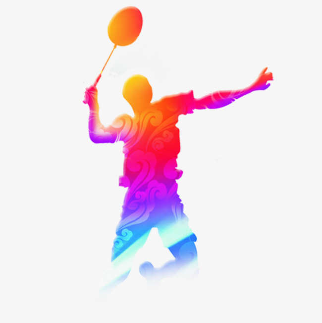 Color badminton players olympic. Cool clipart sport svg
