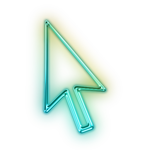 Cool cursor png. Image glowing green neon