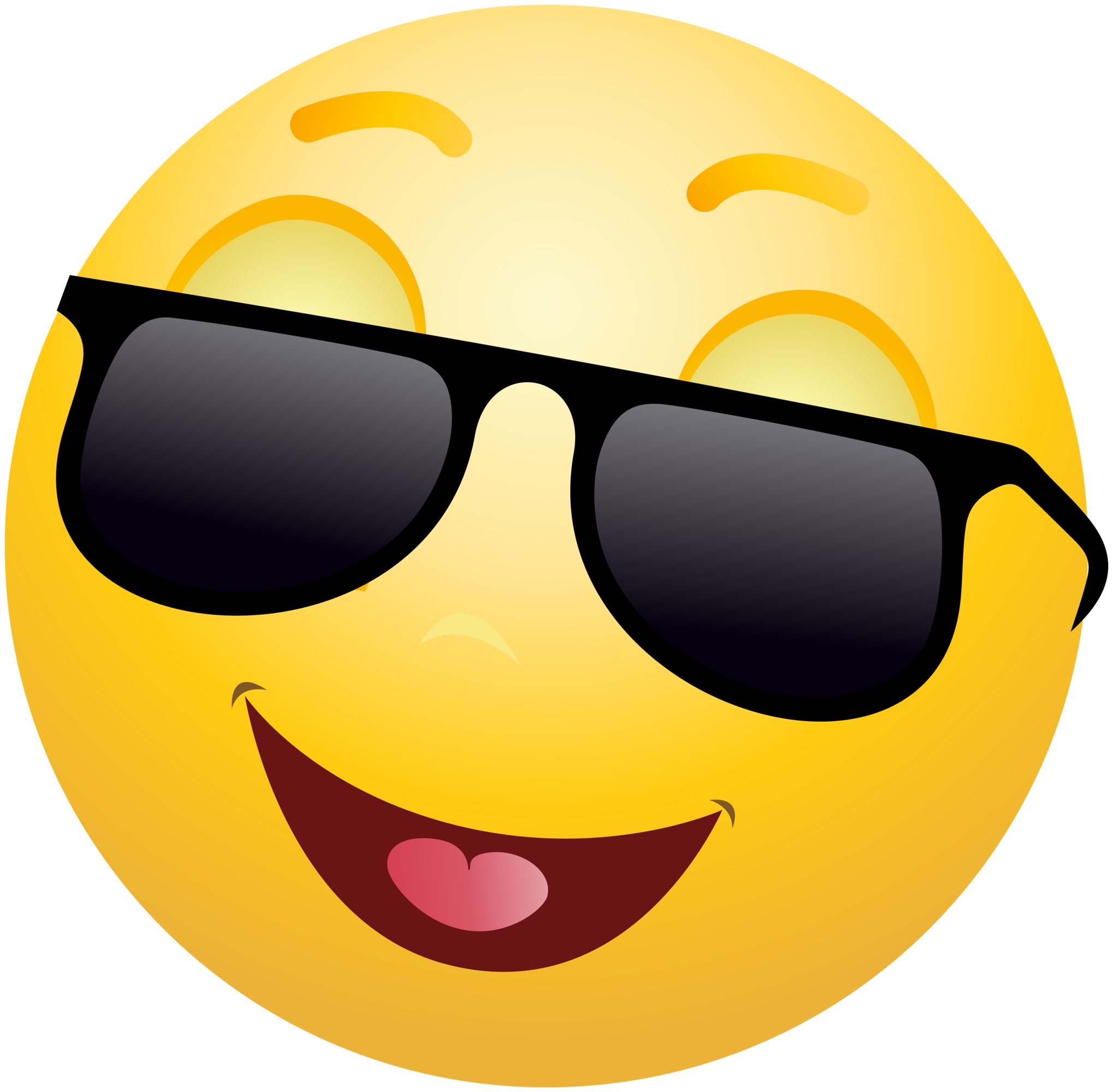 Cool emoji png. Smiling emoticon with sunglasses