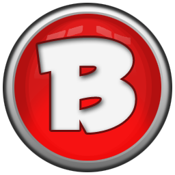 Letter b png. Icon red orb alphabet