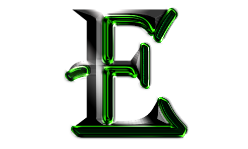 Cool letter e png. Logo by eddyrailgun on