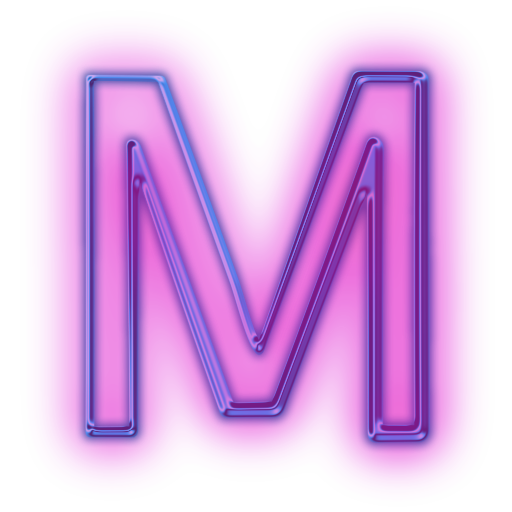 The letter m png. Purple icon free icons