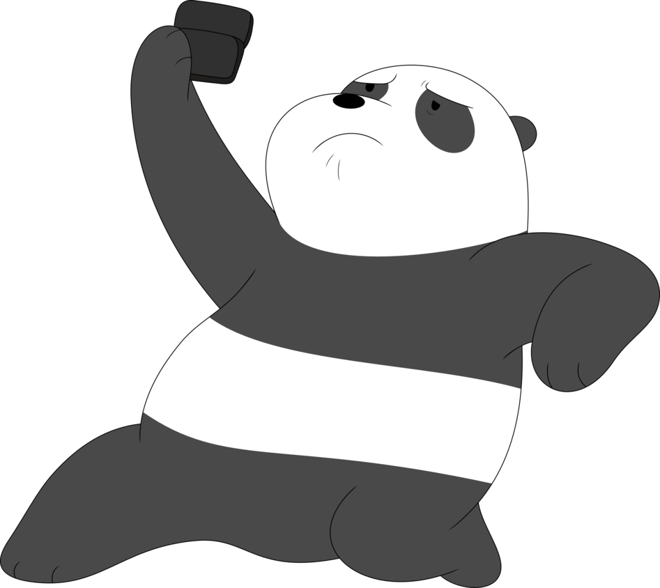 We bare bears panda png. Pandas with phones are