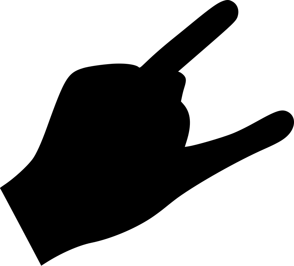 Finger hole png. Rock cool svg icon