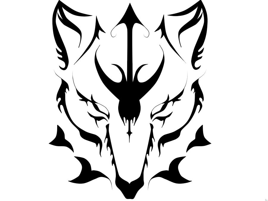 Tribal transparent face. Wolf tattoos png images