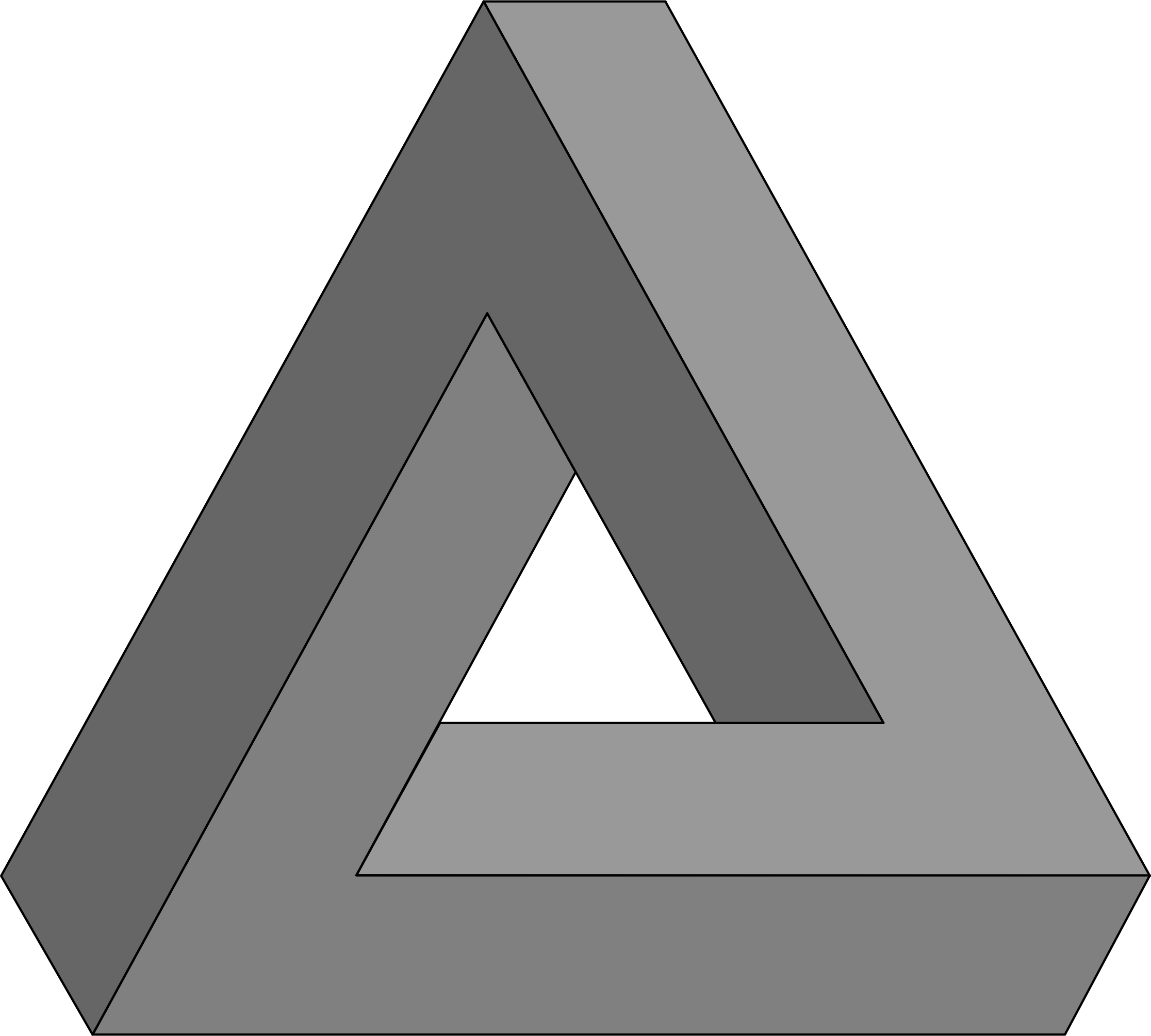 3d triangle png