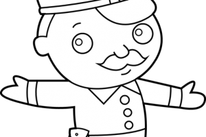 Cop clipart black and white. Station