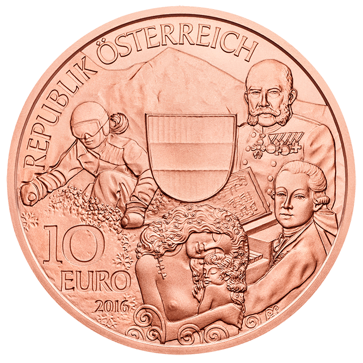 Copper coin png. Austria piece by euro