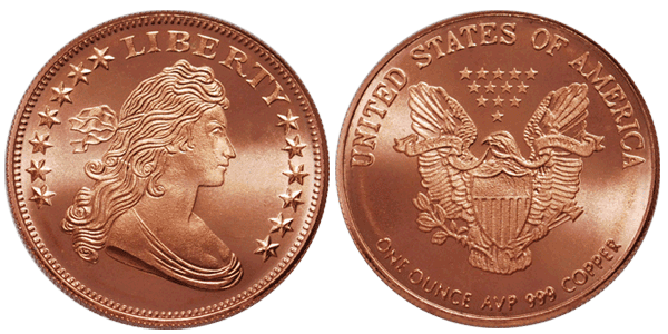 Copper coin png. American draped bust round