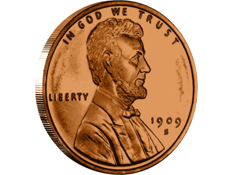 Penny png. Copper lincoln wheat dollar