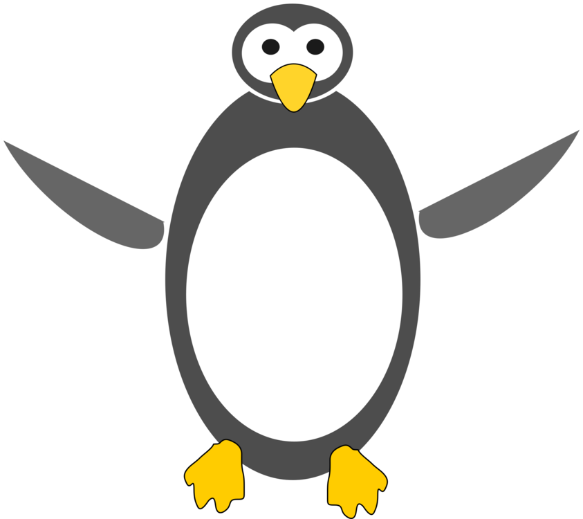 Copy drawing penguin. Little cartoon tux free