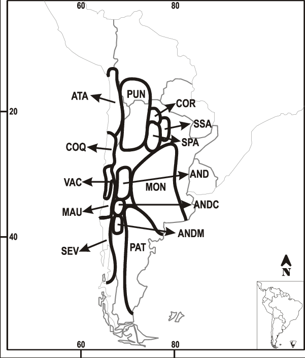 Coqui drawing el. Areas used in the