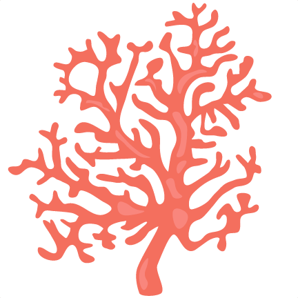 Coral clipart. Svg scrapbook cut file