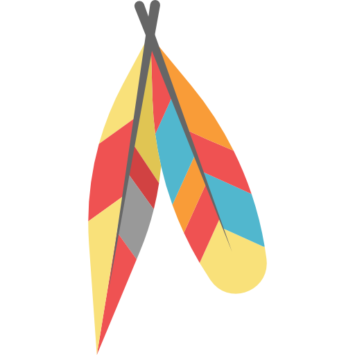 Coral feathers png. Native american ornamental adornment