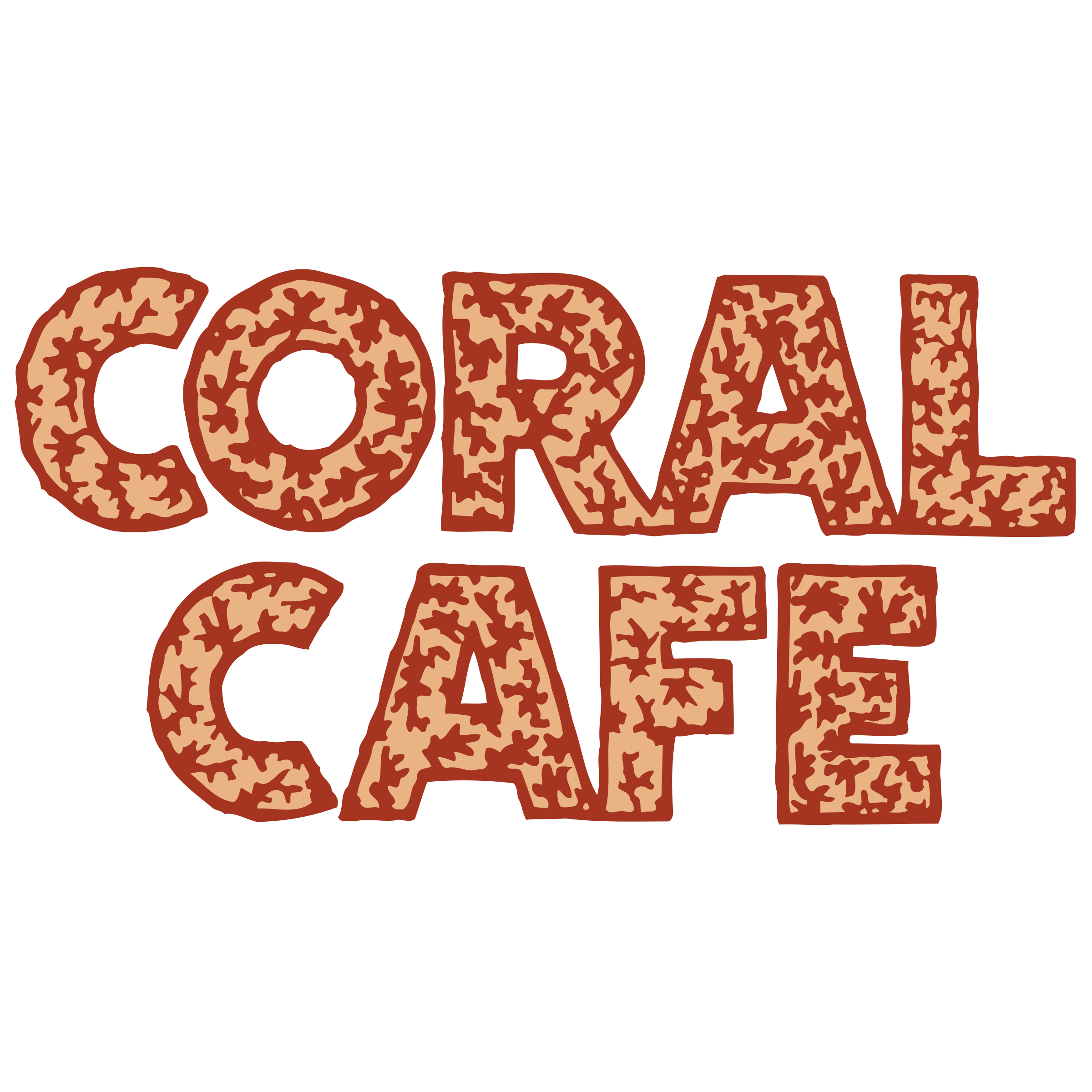 Coral svg. Cafe logo png transparent