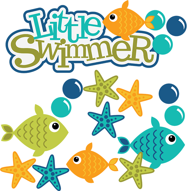 Coral svg cute. Little swimmer scrapbook files