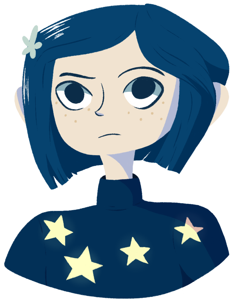 Coraline transparent. Merch available by kassyfox