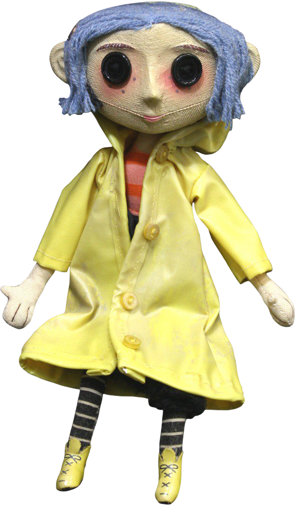 Coraline transparent. Doll prop replica by