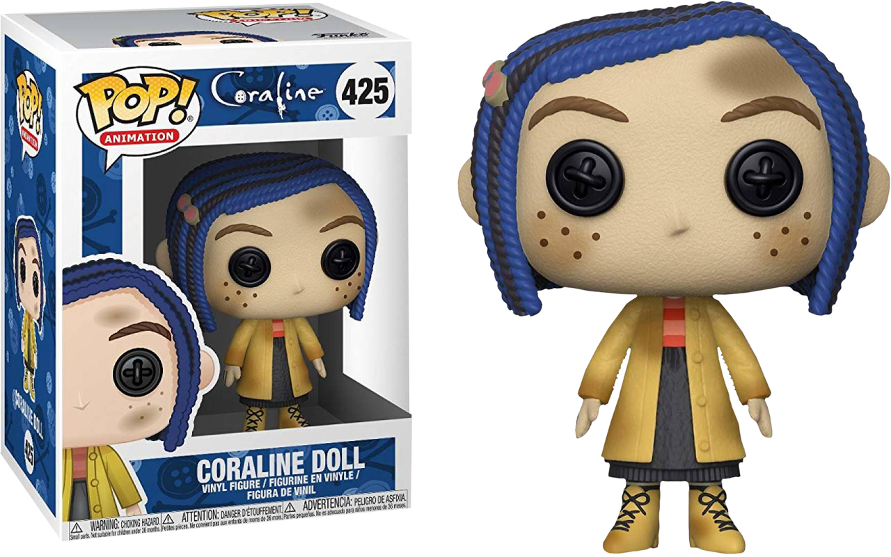 Coraline transparent doll. Pop vinyl figure image