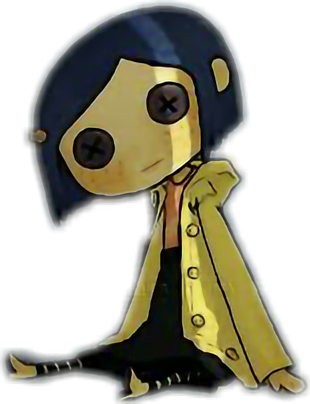 Coraline transparent doll. Movie sticker by frisky