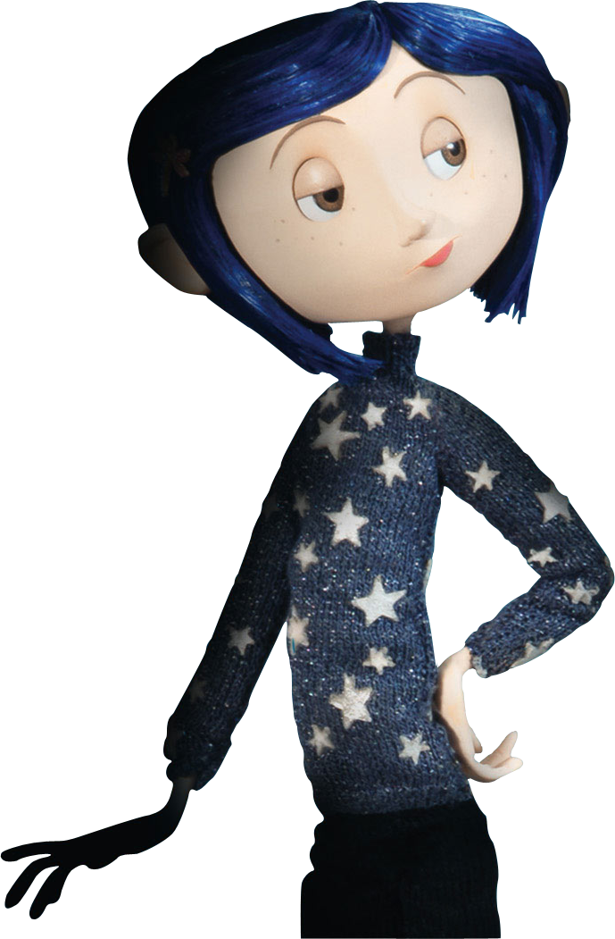 raincoat drawing coraline