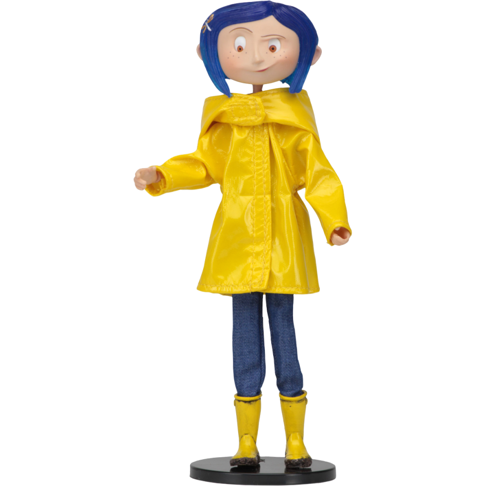 Coraline transparent doll. In rain coat inch