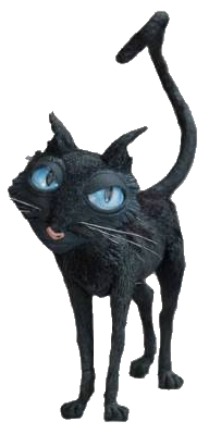 Coraline transparent render. Image the cat png