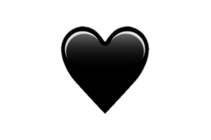 Corazón png black tumblr white heart. Corazon image related wallpapers