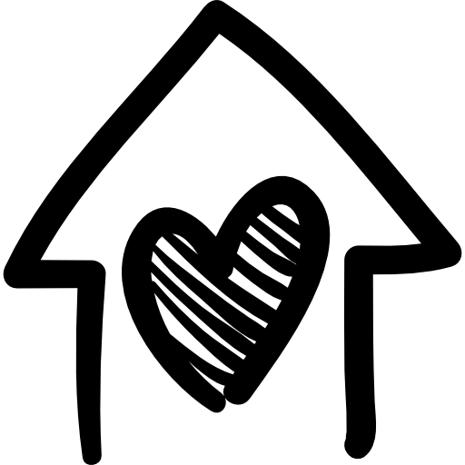 Corazón png heart drawing. House with hand drawn