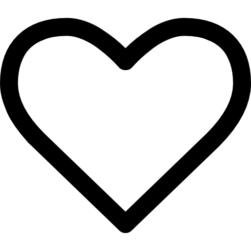 Corazón png love icon. Heart shape outline free