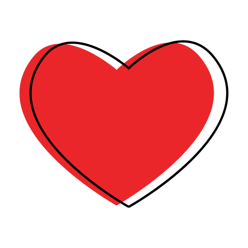 Corazón png love icon. Heart like transparent svg