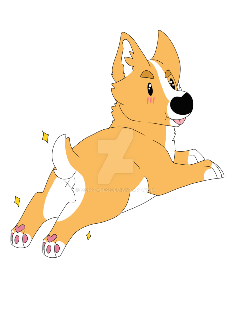 Corgi butt png. By vcr tapes on