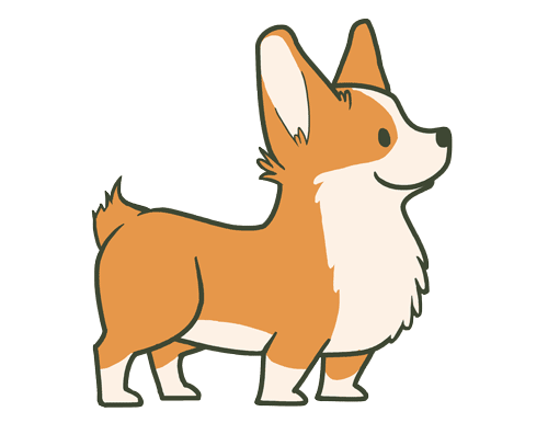 Starfishey so due to. Corgi cartoon png png freeuse library
