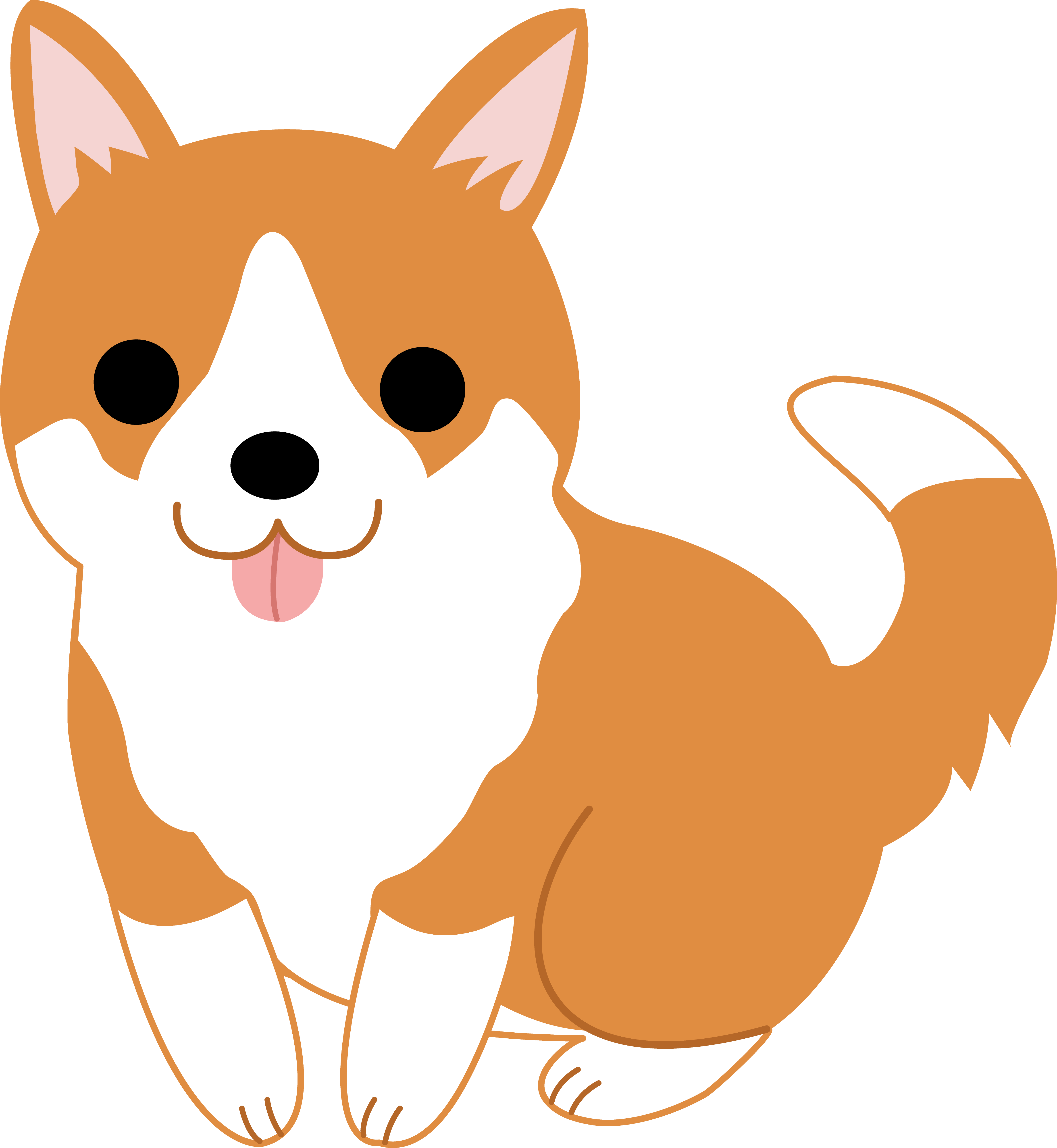 Welsh corgi puppy free. Cute clipart banner royalty free download