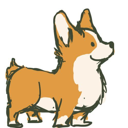 Pembroke welsh at getdrawings. Corgi clipart svg library