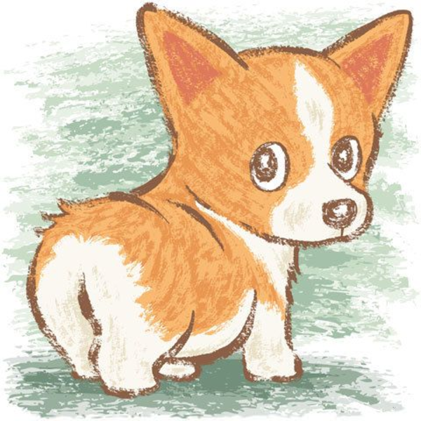 Welsh free images at. Corgi clipart vector