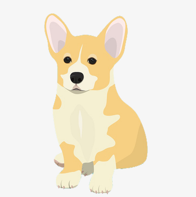 Cartoon koji dog lovely. Corgi clipart banner royalty free library