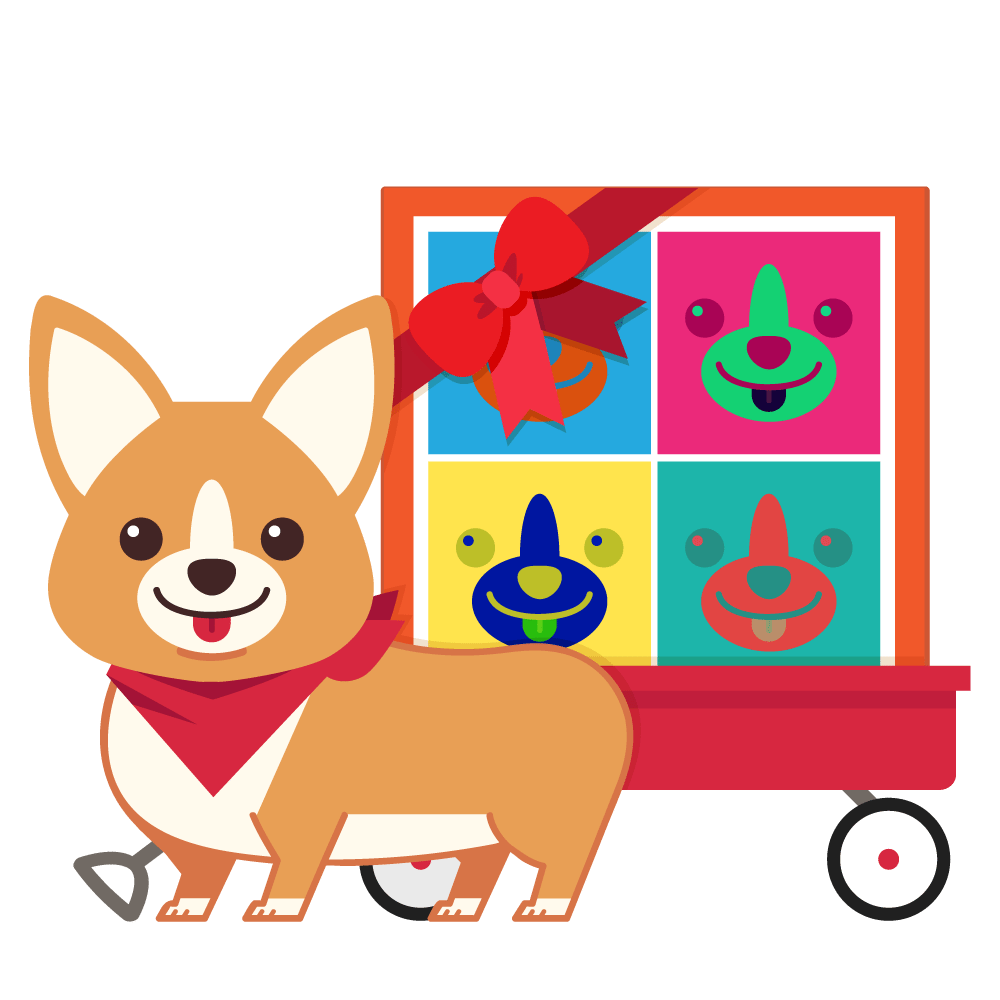 Corgi clipart wealthy. About artcorgi gift delivery