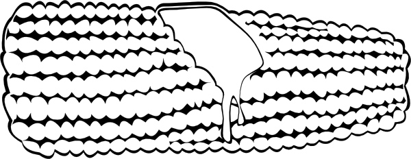 Corn clipart cob. On the b and