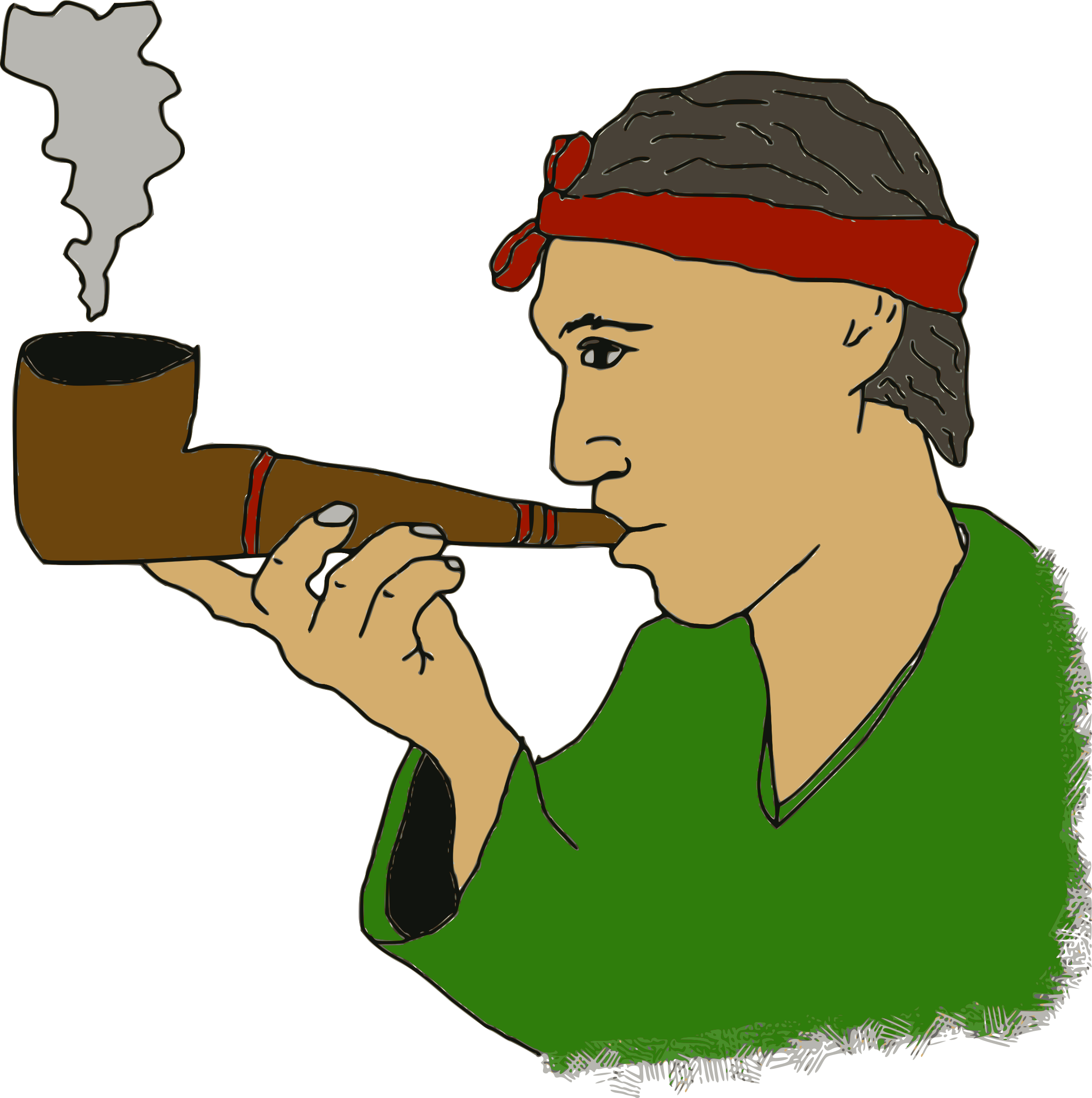 Corn clipart pipe. Man with a icons