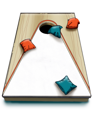 Corn hole clipart png. Chamber cookout