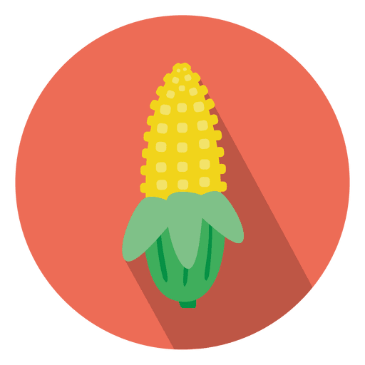 Corn vector png. Flat circle icon transparent