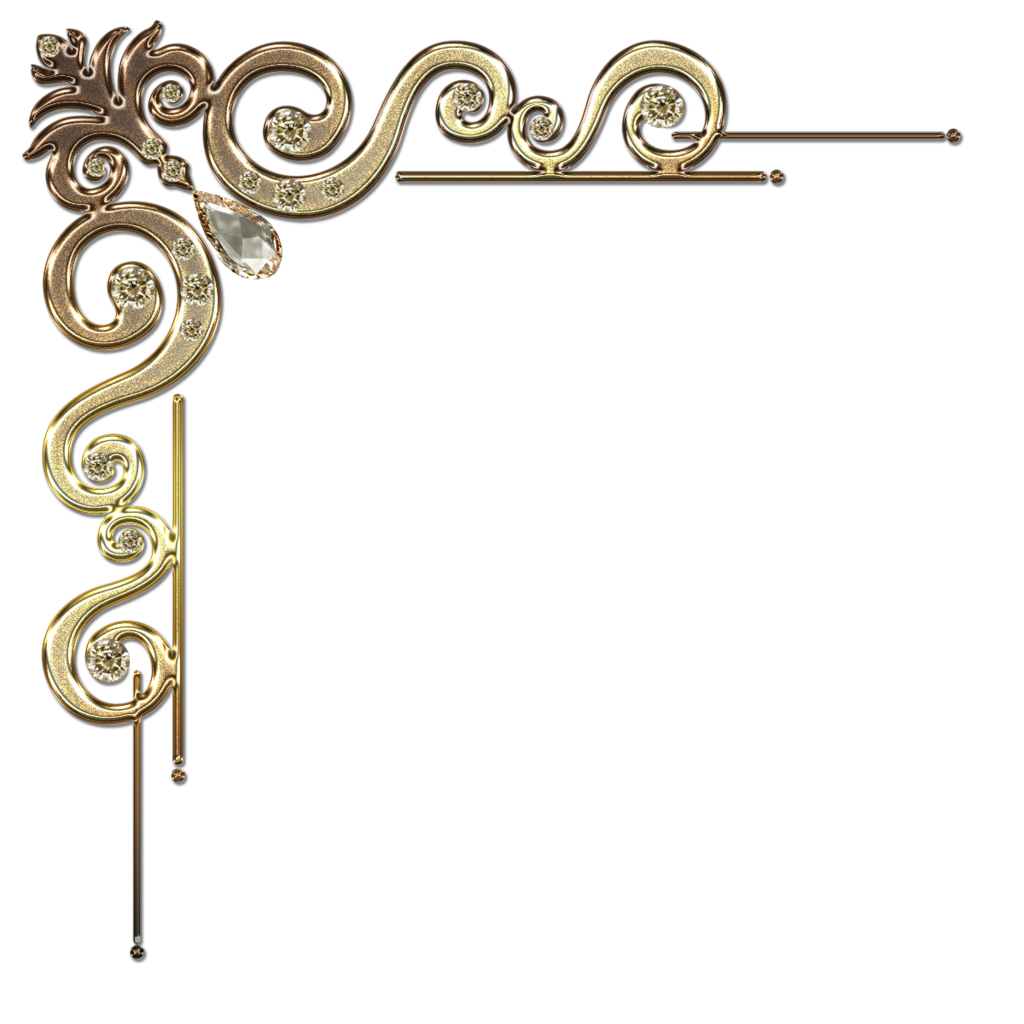 Corner border png. Decorative with citrine in