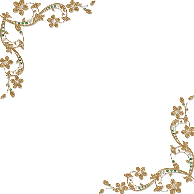 Corner transparent elegant. Page border clipartsco gold