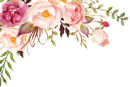 Corner transparent watercolor floral. Best flower bouquet png