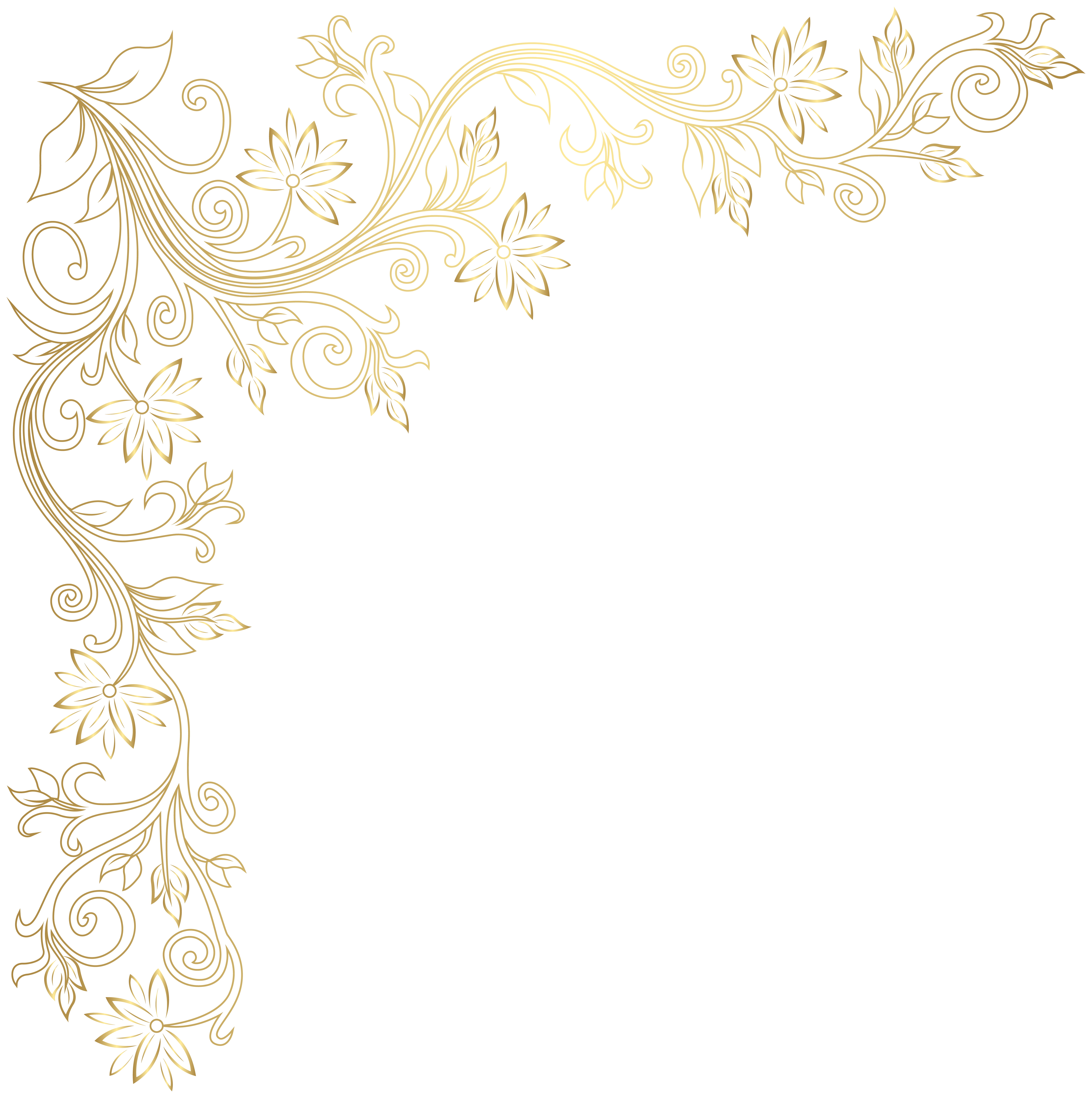 Corner transparent clipart. Gold image gallery yopriceville