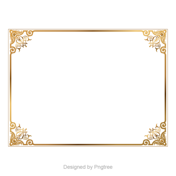 Royal vector vintage. Golden border boundary picture